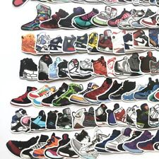US SELLER, 100 decals sneaker basketball sports shoes vinyl guitar stickers