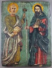 """Ancien Tableau """"Scène Religieuse"""" Peinture Huile Antique Oil Painting"""