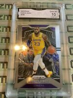 💎 2019-20 Panini Prizm LEBRON JAMES #129 GMA GEM MINT 10 Psa Bgs Sgc LA Lakers