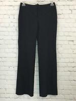 J Crew Womens Size 4 Black Pinstripe Bootcut Lined Wool Blend Dress Pants