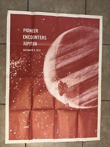 "Vintage Original ""Pioneer Encounters Jupiter December 3 1973"" NASA Poster 30x40"
