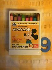 More details for vintage walt disney mickey mouse box of original crayons with built in sharpener