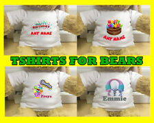 """Personalised Tshirts for Bears Around 15"""" Many Designs"""