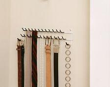 Tie Scarf & Belt Hanger Rack Necktie Holder Closet Organizer Wall Door Mount