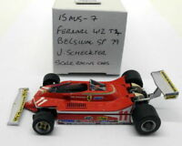 Scale Racing Cars 1/43 Scale built kit 15AUG7 Ferrari 412 T4 Belgium 79 Schecktr
