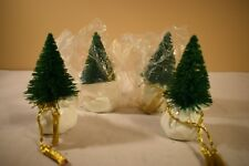 Dept 56 Tree Place Card Holders set of 4 #80381 (1217L)