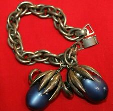 Omg! Rare And Gorgeous Signed Napier Bracelet With Super Stunning Blue Stones