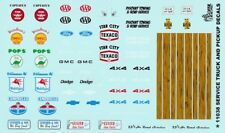 Service & Tow Truck decals 1/25th - 1/24th Scale  WATERSLIDE DECALS