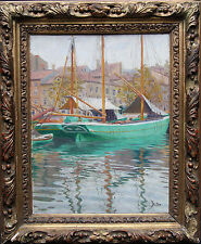ROLAND STRASSER 1885-1974 JAKARTA MARINE  IMPRESSIONIST OIL PAINTING GERMAN ART