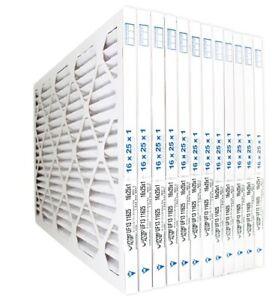 16 x 25 x 1  Pleated Air Filters  Merv 13     12-pack (273-5)