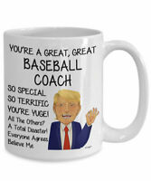 Trump Baseball Coach Mug For Baseball Coach Gifts For Baseball Coach Coffee Mug