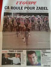 journal  l'équipe 11/07/2001 CYCLISME TOUR DE FRANCE 2001 ZABEL ET TELEKOM