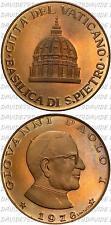 02855] MEDAGLIA CITTA DEL VATICANO - PAPA GIOVANNI PAOLO I 1978 - OPUS SANTUCCIU