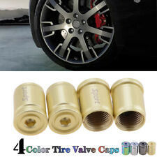4x Gold Anti-theft Car Tire Valve Cap Alloy Sport Exterior Auto Air Caps Cover