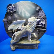 Attacking Winged Guardian Gargoyle Decorative Resin Plate Design Figurine Statue