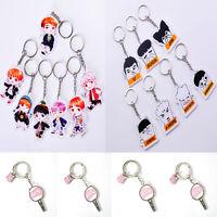 Kpop BTS Keychain Character Acrylic Key Ring Bangtan Boys Jung Kook Suga Jimin V