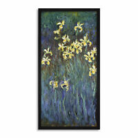 Claude Monet Yellow Irises Long Framed Art Print