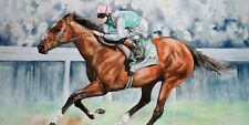 More details for frankel ridden by tom queally 50 art print (horse racing) panoramic photo prints