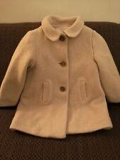 Zara Girls Wool Smart Dress Coat Cream Age 2 3 Winter Jacket Posh traditional