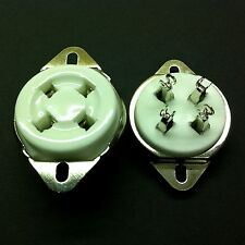 4 Pin UX4 Ceramic Tubes Socket for 2A3, 300B, etc.  With plated Brass contacts