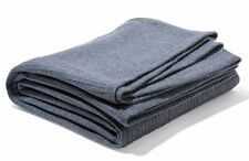 Queen King Size Ribbed Polar Fleece Blanket Rug Throw Grey 220x240CM