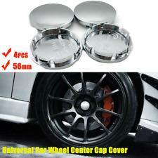 4Pcs 56mm Universal Car Wheel Center Caps Hub Tyre Rim Hub ABS Chrome Cap Cover