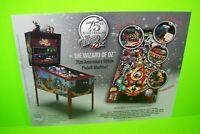 The WIZARD OF OZ Pinball FLYER Original 75th Anniversary Edition Artwork Sheet