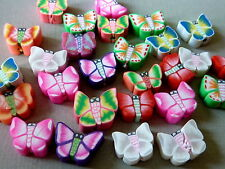 20 Fimo Perle Schmetterling 10 mm bunt Mix Mischung 1359