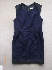 SANDRO Paris Stunning Wool Tweed Blue Office Pencil Dress - Size 3 / UK 10