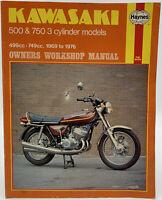 Haynes Kawasaki Owners Workshop Manual 500 & 750 3 Cylinder 1969 To 1976 Service