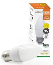 5 W = 30 W E27 LED Bombilla de Edison tornillo Vela fría luz del día blanco 5000k
