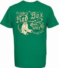 St.Patrick's Day Irish Boston Red Sox T-Shirt, MLB Baseball New, SIZE S