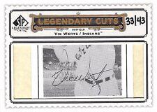 Vic Wertz 2009 Upper Deck SP Legendary Cuts Autograph 33/43 Auto Signature Mint