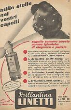 W1511 Brillantina LINETTI - Pubblicità del 1956 - Vintage advertising