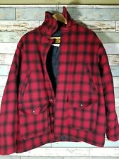 Woolrich Classic Wool Hunt Coat Jacket Large EUC