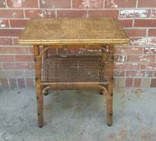 Vintage Calif-Asia Side Table Rattan Bamboo 22x14.25x22.5 Magazine Rack