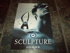 Sculpture fragrance for men by Homme-1996 magazine advert