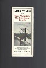 Vintage 1930's AUTO TRAILS BEAR MOUNTAIN HUDSON RIVER BRIDGE. Folding Brochure