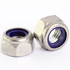 M5 STAINLESS NYLOCK NYLOC LOCK NUTS QTY 50 PACK