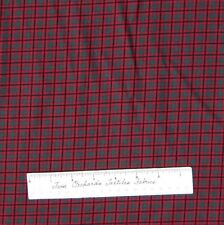 Riverwoods Fabric - Christmas Red & Green Plaid - Debbie Field Cotton YARD