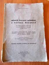Antonio Pagani MONETE ITALIANE MODERNE A SISTEMA DECIMALE Ratto 1953