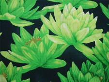 clothworks Agua Lirios verde lima Cedro Oeste tela de algodón 81.3cm Retazos