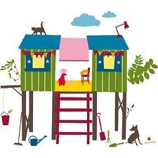 Stickers Adhésifs GÉANT Muraux Décorations Chambre Enfant CABANE KIDSLAB