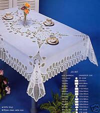 Tablecloth Vinyl Lace Battenberg  54x72 Rectangular
