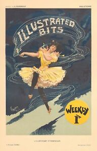AFFICHES ETRANGERES Illustrated Bits POSTER 1897 MORROW PRINT WOMAN DANCING