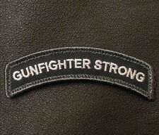 GUNFIGHTER STRONG TAB ROCKER TACTICAL MORALE SWAT VELCRO® BRAND FASTENER PATCH
