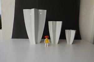 3 x schöne Hutschenreuther Vase Porzellan Sternvase Sternform