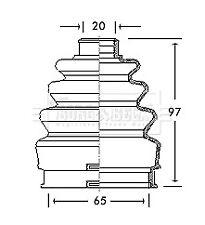 Borg & Beck Driveshaft Bellow CV Joint Boot Kit BCB2739 - 5 YEAR WARRANTY