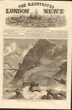 #01-0278 1/30/1869 ANTIQUE PRINT (TRAINS) - OVERLAND ROUTE - L'ECHELLE DU DIABLE