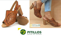 Pitillos Shoes Spain Comfort Leather sling back heel shoes  Pitillos 5180 SALE